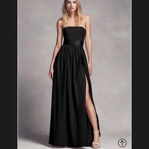 David's Bridal Vera Wang Strapless Dress Black